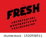 vector of stylized modern font... | Shutterstock .eps vector #1520938511