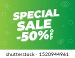modern super sale banner and... | Shutterstock .eps vector #1520944961