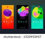 set of vector design templates... | Shutterstock .eps vector #1520953937