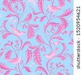 seamless pattern with birds ... | Shutterstock . vector #1520954621