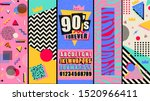 90s and 80s poster. nineties... | Shutterstock .eps vector #1520966411