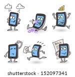 vector happy  busy working... | Shutterstock .eps vector #152097341