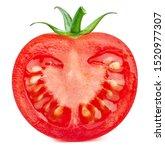 Tomato Half Vegetables Isolated ...