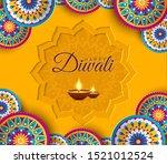 diwali festival of lights... | Shutterstock .eps vector #1521012524