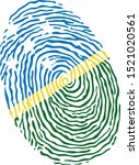 fingerprint vector colored with ... | Shutterstock .eps vector #1521020561