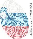 fingerprint vector colored with ... | Shutterstock .eps vector #1521020564