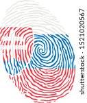fingerprint vector colored with ... | Shutterstock .eps vector #1521020567