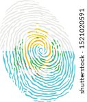 fingerprint vector colored with ... | Shutterstock .eps vector #1521020591