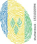 fingerprint vector colored with ... | Shutterstock .eps vector #1521020594