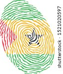 fingerprint vector colored with ... | Shutterstock .eps vector #1521020597
