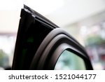 elastic rubber at door for reduce sound outside a car .  - stock photo