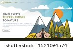 web page design templates with... | Shutterstock .eps vector #1521064574