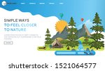 web page design templates with... | Shutterstock .eps vector #1521064577