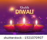 beautiful shubh diwali poster... | Shutterstock . vector #1521070907