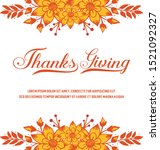 banner of thanksgiving  with... | Shutterstock .eps vector #1521092327