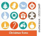 christmas and winter icons... | Shutterstock .eps vector #152111669