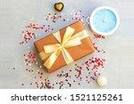 christmas gift box  heart... | Shutterstock . vector #1521125261