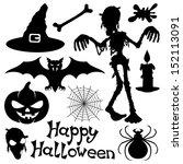 vector set. halloween... | Shutterstock .eps vector #152113091