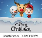 christmas in snow vector... | Shutterstock .eps vector #1521140591