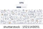 vpn technology concept. virtual ... | Shutterstock .eps vector #1521143051