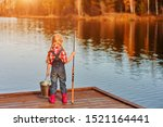 Little Girl With A Fishing Rod...