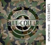 blue collar camouflaged emblem. ... | Shutterstock .eps vector #1521186071