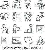 customer feedback icons set... | Shutterstock .eps vector #1521194834