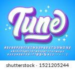 playful stylish script font...   Shutterstock .eps vector #1521205244