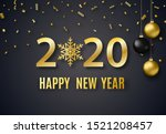 2020 new year background for... | Shutterstock .eps vector #1521208457
