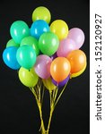 Colorful Balloons On Dark Colo...