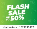 modern flash sale banner and... | Shutterstock .eps vector #1521215477