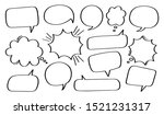 set hand drawn speech bubble or ...   Shutterstock .eps vector #1521231317