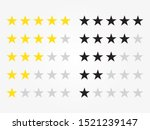 stars rating icon set. four...   Shutterstock .eps vector #1521239147
