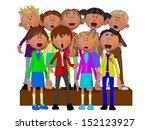 children singing  children... | Shutterstock . vector #152123927