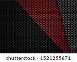 abstract red grey black hexagon ... | Shutterstock .eps vector #1521255671