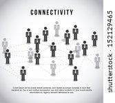 connectivity design  over gray... | Shutterstock .eps vector #152129465