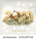 holiday background with a 2020... | Shutterstock .eps vector #1521299744