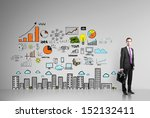businessman standing in room... | Shutterstock . vector #152132411
