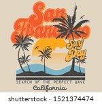 Vector Surf And Paradise Print