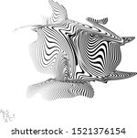 abstract striped wavy shape.... | Shutterstock .eps vector #1521376154