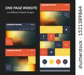 colorful one page website...