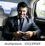 businessman in the car | Shutterstock . vector #152139569
