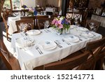 wedding banquet table with... | Shutterstock . vector #152141771