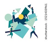 vector illustration flat people....   Shutterstock .eps vector #1521433961