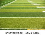 a new astro turf foot ball field | Shutterstock . vector #15214381