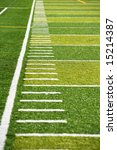 a new astro turf foot ball field | Shutterstock . vector #15214387