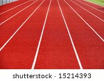 a blue track at a high school | Shutterstock . vector #15214393