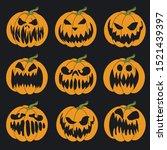 Halloween Stencil. Vector...