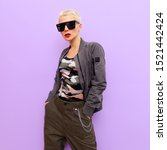 Small photo of Absolute Military Style. Blonde in fashion accessories