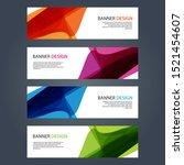 vector abstract design banner... | Shutterstock .eps vector #1521454607